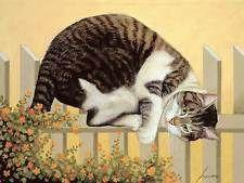 Lowell Herrero Little Pal Gilbert Cats Kitten Cat Nap Print Poster 18x24