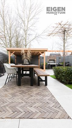 - Eigen Huis en Tuin From large sandbox to cozy and mod Small Backyard Design, Backyard Patio Designs, Small Backyard Landscaping, Backyard Ideas, Outdoor Rooms, Outdoor Gardens, Outdoor Living, Backyard Seating, Outside Living