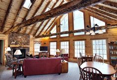 Interior Lighting Tips for Log Cabins Log Home Decorating, Interior Decorating, Firewood Logs, Garage Addition, Attached Garage, Timber Frame Homes, Custom Built Homes, Log Homes, Door Knobs