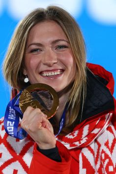 BIATHLON WOMEN'S 10km PURSUIT:  Gold medalist Darya Domracheva of Belarus