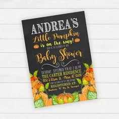 Watercolor Pumpkin Baby Shower Invitation
