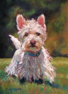 "Daily Paintworks - ""Darby"" - Original Fine Art for Sale - © Cindy Gillett"