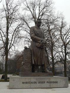 Józef Piłsudski Monument in Aleje Ujazdowskie, Warsaw, Poland