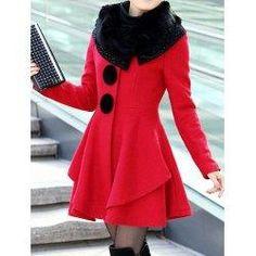 #trendsgal.com - #Trendsgal Long Sleeves Solid Color Wool Coat For Women - AdoreWe.com