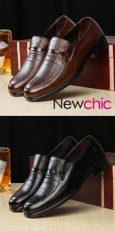 a71c2586fc5d Men Soft Leather Slip On Business Casual Shoes is designed for the formal  occasion
