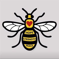 A SIGNAGE business is joining the bee movement, which has sprung up in the wake of the Manchester Arena attack.p to hose who lost there lives during the manchester attack Bee Tattoo Manchester, Manchester Attack, Manchester Art, 3d Pen, Bee Art, Bee Design, Save The Bees, Bees Knees, Tattoos