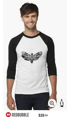 Death's-Head Hawkmoth Baseball Shirt #artbyurte