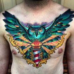 Ideas for eye tattoo traditional chest piece Owl Eye Tattoo, Mens Owl Tattoo, Tattoo Henna, 100 Tattoo, Tattoo Skin, Dark Tattoo, Trendy Tattoos, Tattoos For Women, Tattoos For Guys
