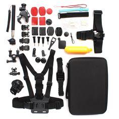33 In 1 Floating Monopod Mount Accessories Kit Set For GoPro Hero 1 2 3 4 Xiaomi Yi Camera SJcam