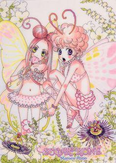 Chocolat and Vanilla as Fairies from Sugar Sugar Rune Anime Oc, Kawaii Anime, Manga Anime, Cool Abstract Art, Pink Sugar, Sugar Sugar, Vanilla Sugar, Fairies Photos, Love Illustration