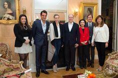 Prince Albert and Princess Charlene met with legendary tennis players