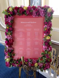 Another lovely floral table plan from a recent wedding! More ideas at http://www.toptableplanner.com/blog/summer-themed-wedding-seating-plan