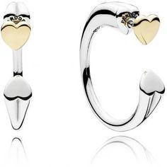 9556dbd87c36af Boucles d Oreilles Pandora 296576 - Boucles d Oreilles Créoldes Coeurs  Femme Plus d infos