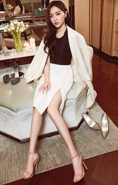 If the shoe fits… Actress Tiffany Tang sitting pretty #inourshoes.