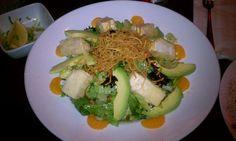 ra : nutty tofu salad.