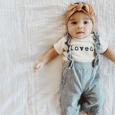 Loved organic onesie, baby, boy, girl, unisex, gender neutral, infant, toddler, newborn, bodysuit, layette, onsie, onzie, onesies, one piece, child tee, boho, baby shower gift, cream, natural, organic baby clothes, outfits, word onesie, typewriter font clothes, wholesale, tenth & pine, tenth and pine
