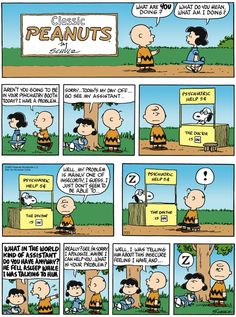 Sometimes you just need someone to listen to your problems - Peanuts Classic