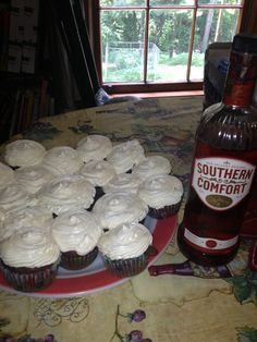 Southern Comfort cupcakes.