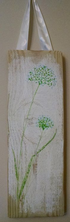 Shabby Chic Flower on reclaimed wood by CharlesStreetStudio