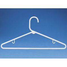 "17"" White Hangers."