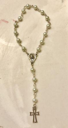 Mini-pearl rosary bracelet
