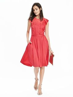Stitch fix stylist:  Love the detail of this dress and color.  Would prefer rayon, linen or cotton blend.