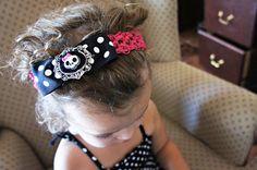 Olivia Paige Skull Cameo infant/HEADBAND