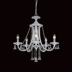 Impex Calgary 5 Light Chandelier A Stunning Crystal Chanderlier Available In