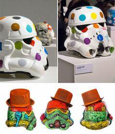 Art Wars: Stormtrooper Helmets Get a Colorful Makeover
