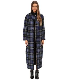Iska London Black & White Plaid Cutout Cape | White plaid, Open ...