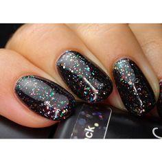 Get Pink Gellac colour 177 Glitterize Black gel nail polish at www.pinkgellac.co.uk