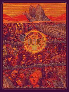 """Dune"" poster by Kevin Tong -4 Color Screen Print on 100lb. French Poptone Lemondrop"