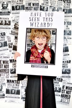 Harry potter birthday party photo booth