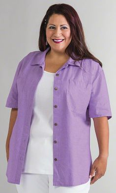 Chambray Oversize Shirt / MiB Plus Size Fashion for Women