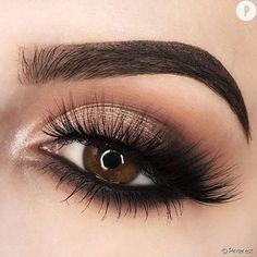 25 Beautiful sparkly eye make-up for your wedding day - beauty of the wedding . 25 Beautiful sparkly eye make-up for your wedding day - . Sparkly Eye Makeup, Wedding Eye Makeup, Cute Makeup, Gorgeous Makeup, Wedding Beauty, Black Eye Makeup, Sleek Makeup, Awesome Makeup, Eye Makeup Tips
