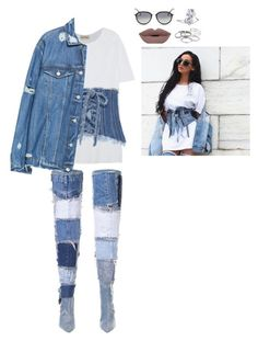 """""""I tried but I couldn't find the right clothes for the set so Her it is. suggestion please"""" by mrkr-lawson on Polyvore featuring American Vintage, Philosophy di Lorenzo Serafini, Zara, Lord & Taylor, Ray-Ban and Kendra Scott"""