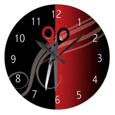 Red & black hair salon clock online after you search a lot for where to buyThis Deals          	Red & black hair salon clock Review from Associated Store with this Deal...