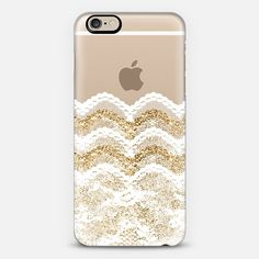 White and Gold Lace Layers iPhone 6 Case by Organic Saturation | Casetify. Get $10 off using code: 53ZPEA