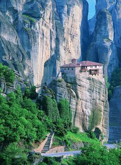That's a monastery up there!
