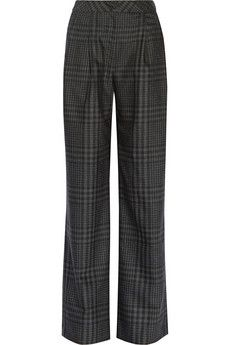 Adam Lippes Plaid wool and cashmere-blend wide-leg pants | NET-A-PORTER