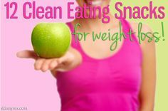 Trying to lose weight? We have 12 Clean Eating Snacks for Weight Loss to help you lose weight and feel better about what you're putting into your body. #weightloss #loseweight #cleaneating #snacks