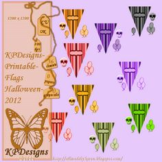 In the spirit of Halloween...printable flags to decorate your home in Halloweenstyle.