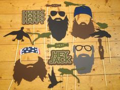 Printable Deluxe Duck Photo Booth - Duck Dynasty Birthday- Duck Commander Party - Beard On A Stick