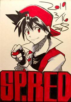 Pokespe Red by Seijun Pokemon Mew, Pokemon Manga, Cool Pokemon, Pokemon Go Red Team, Yellow Trainers, Pokemon Couples, Dark Ash, Pixel Animation, Pokemon Special