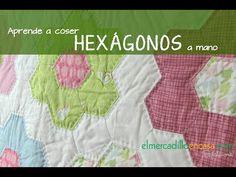 Aprende a coser hexágonos a mano con plantillas de papel - YouTube