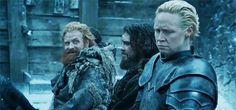 Gwendoline Christie & Kristofer Hivju as Brienne of Tarth & Tormund Giantsbane in Game of Thrones Photo: HBO Gif: evanescos via Tumblr