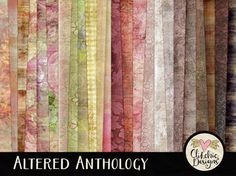 Shabby Digital Paper Pack Altered Anthology 24 by ClikchicDesign