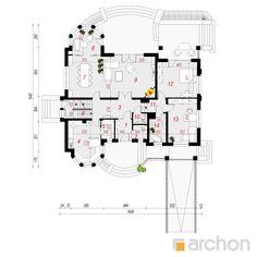 projekt Rezydencja w Myślenicach 2(P) rzut parteru
