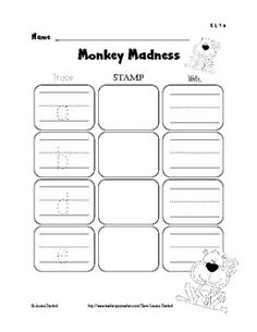 Lowercase letter trace, stamp, and write for $2.00