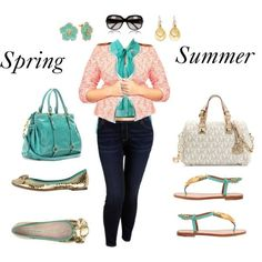 """Spring into Summer- Plus Size Outfit"" by gayle"